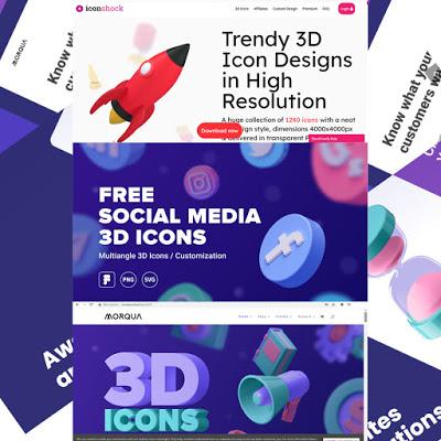 Amazing 3d Icons for UI Designers