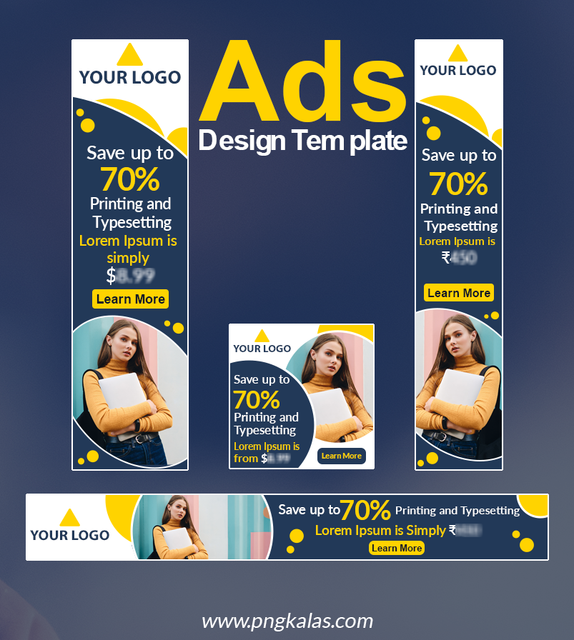 free ads design template