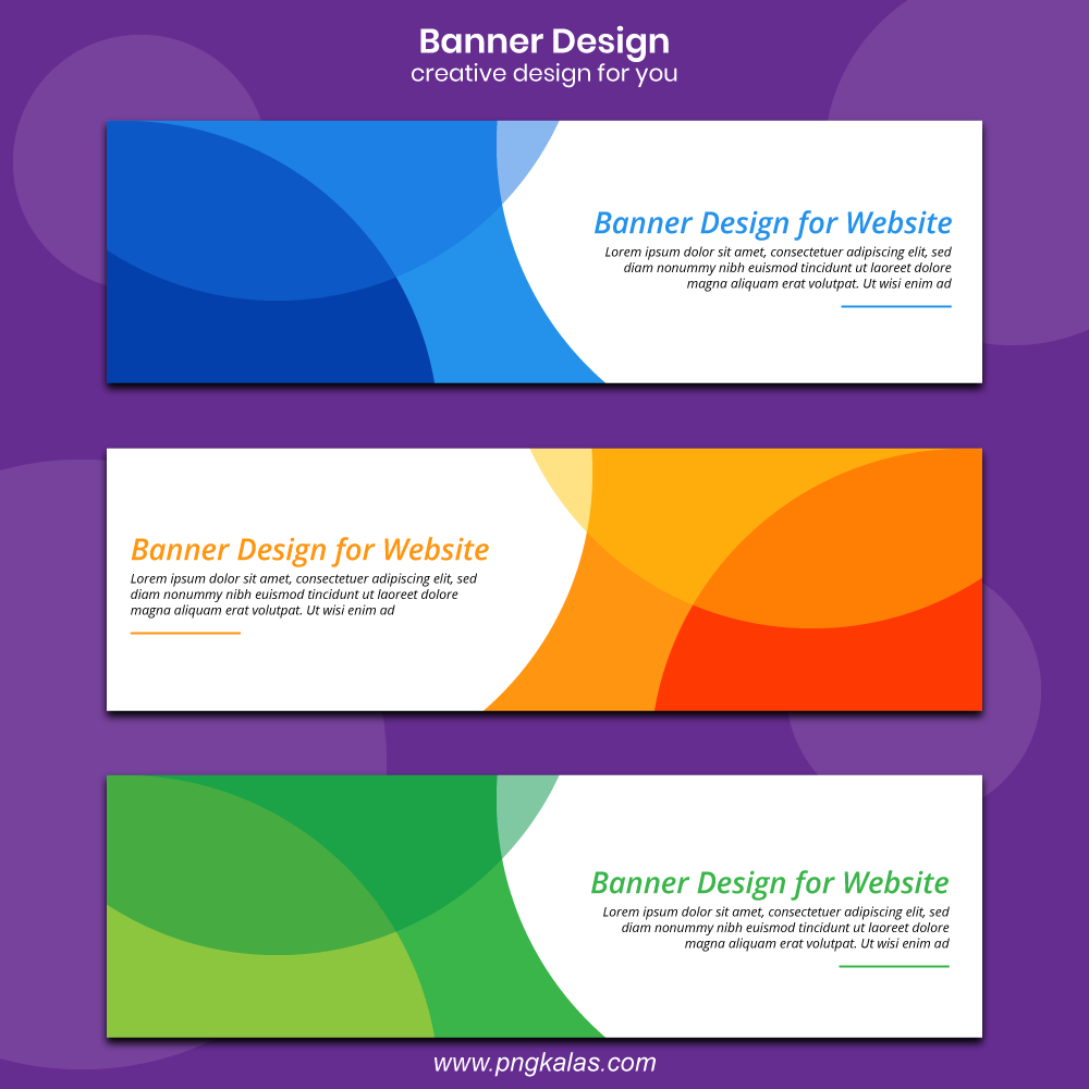 web banner template
