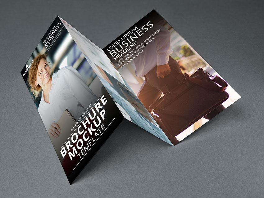 Brochure mockup design