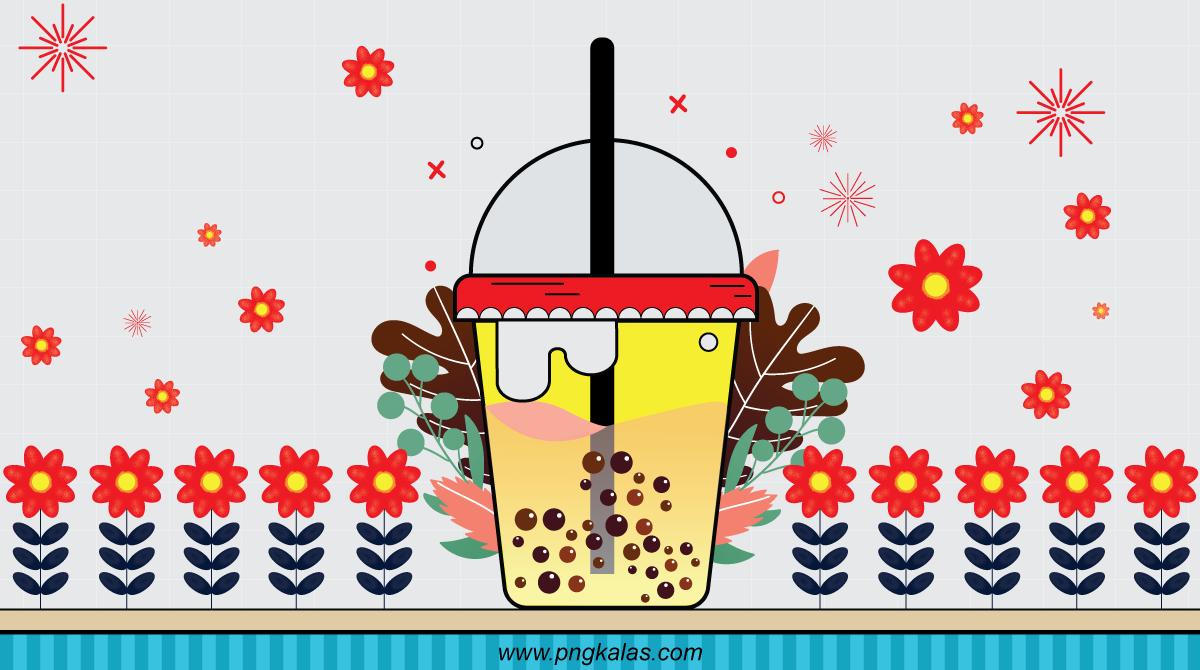 bubble tea design template
