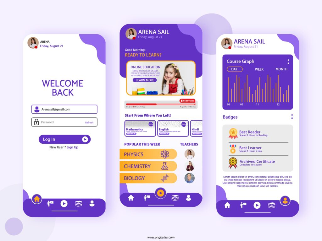 Education App Template Design