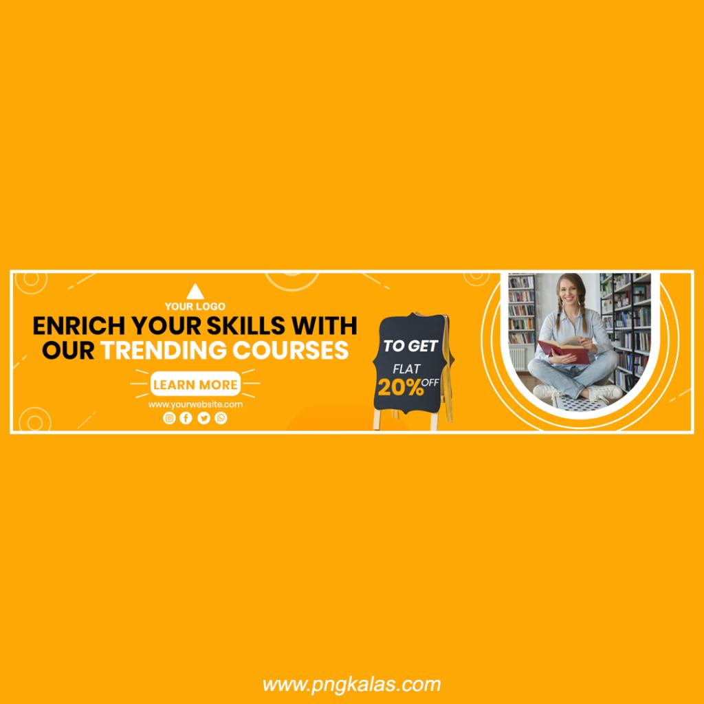 education banner design online