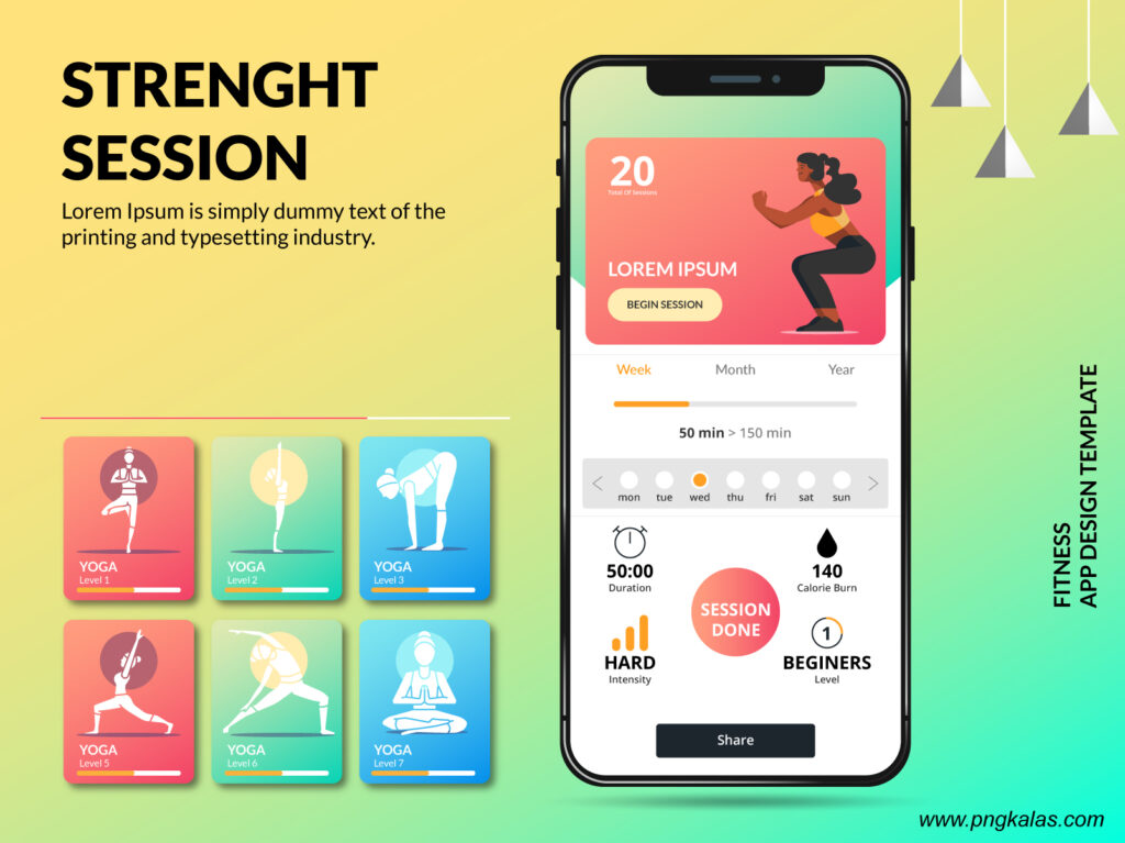Fitness App Screen Design