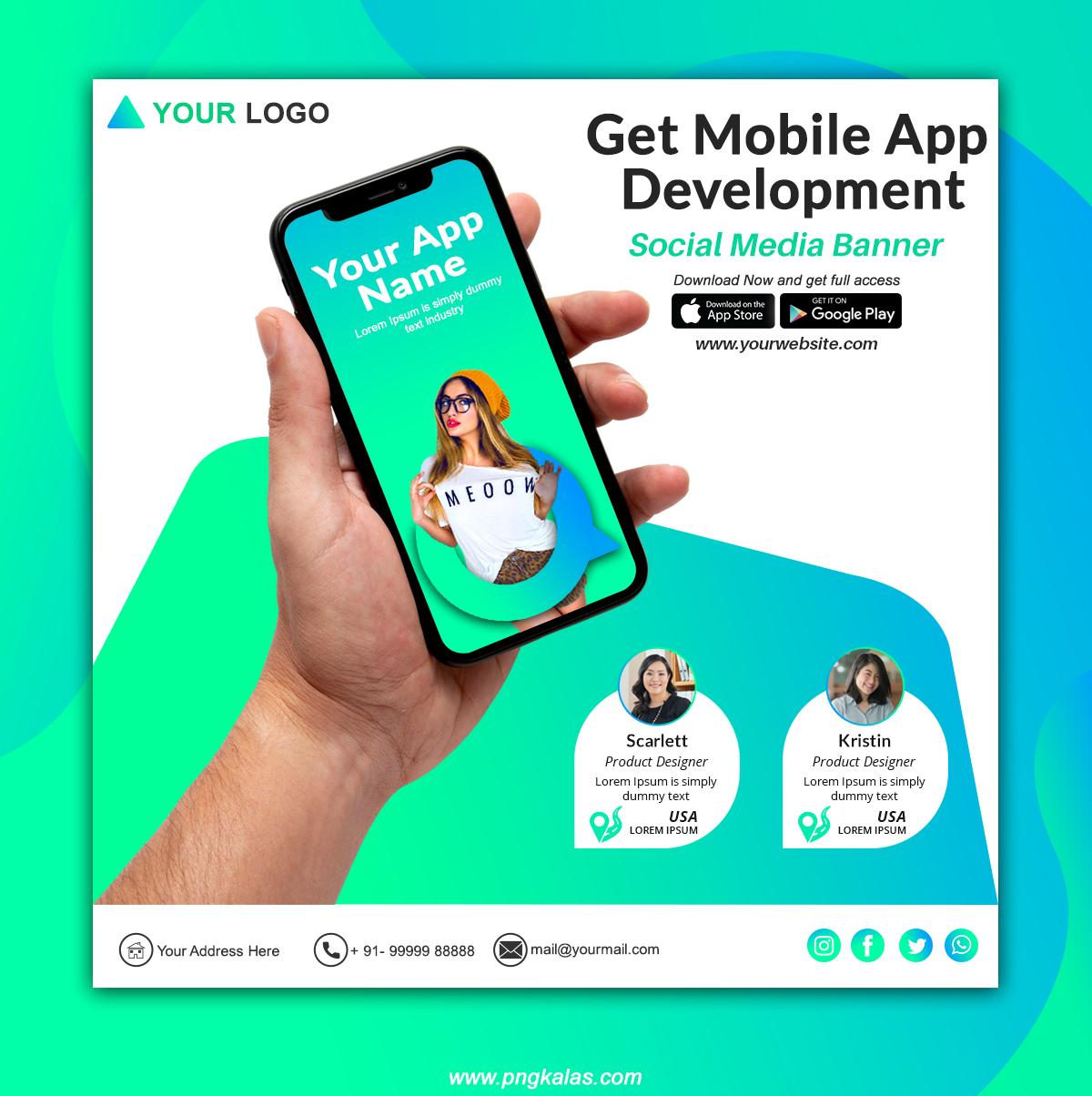 Mobile App Social Media Banner