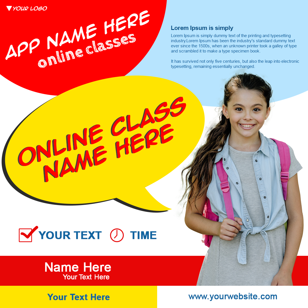 online classes poster