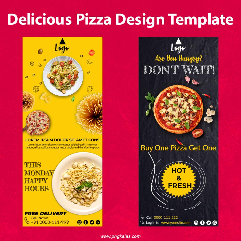 Pizza Menu Template Design