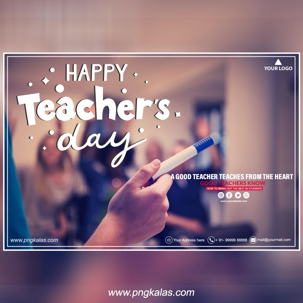 Happy Teachers Day Banner Design