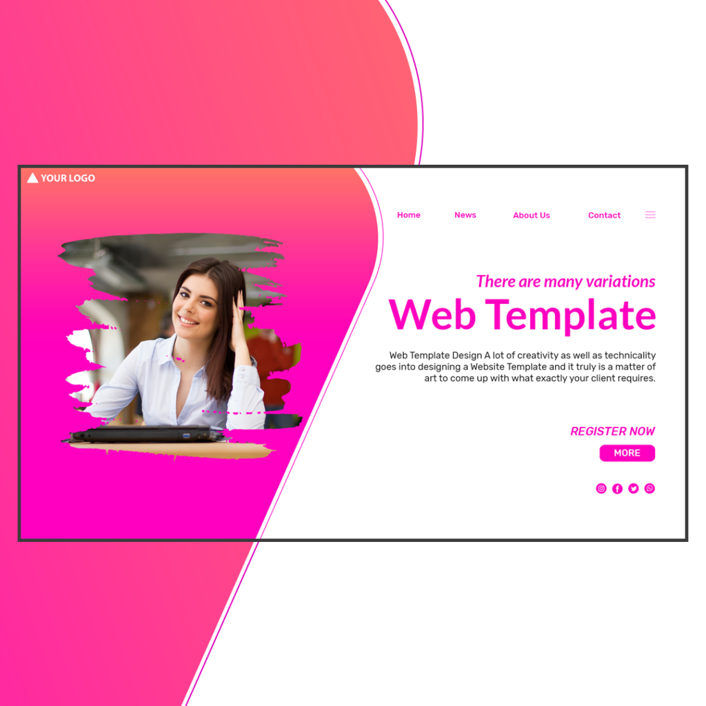 photoshop website template