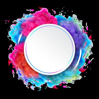 colorful circular abstract smoke