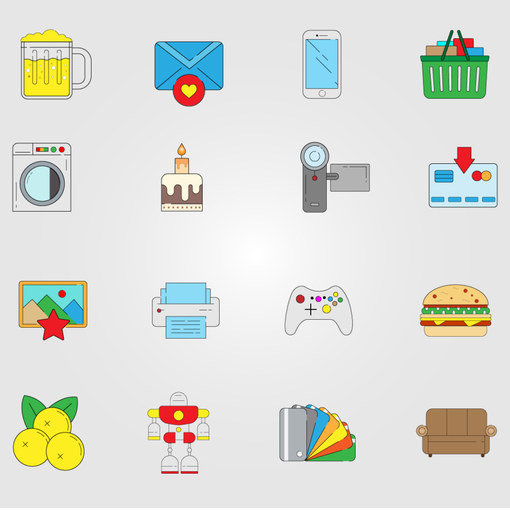 Icons vector design