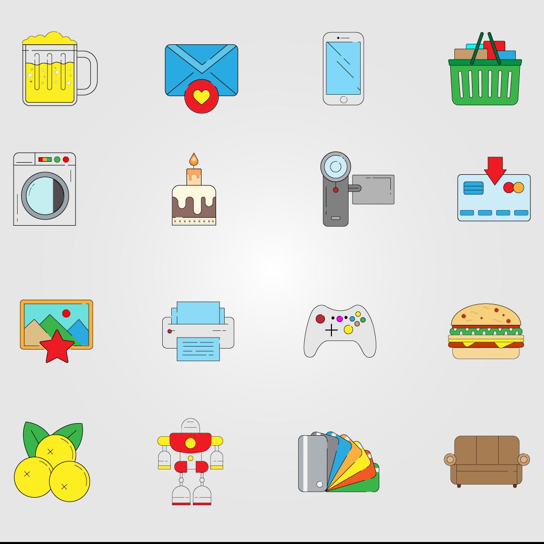 Icons vector design