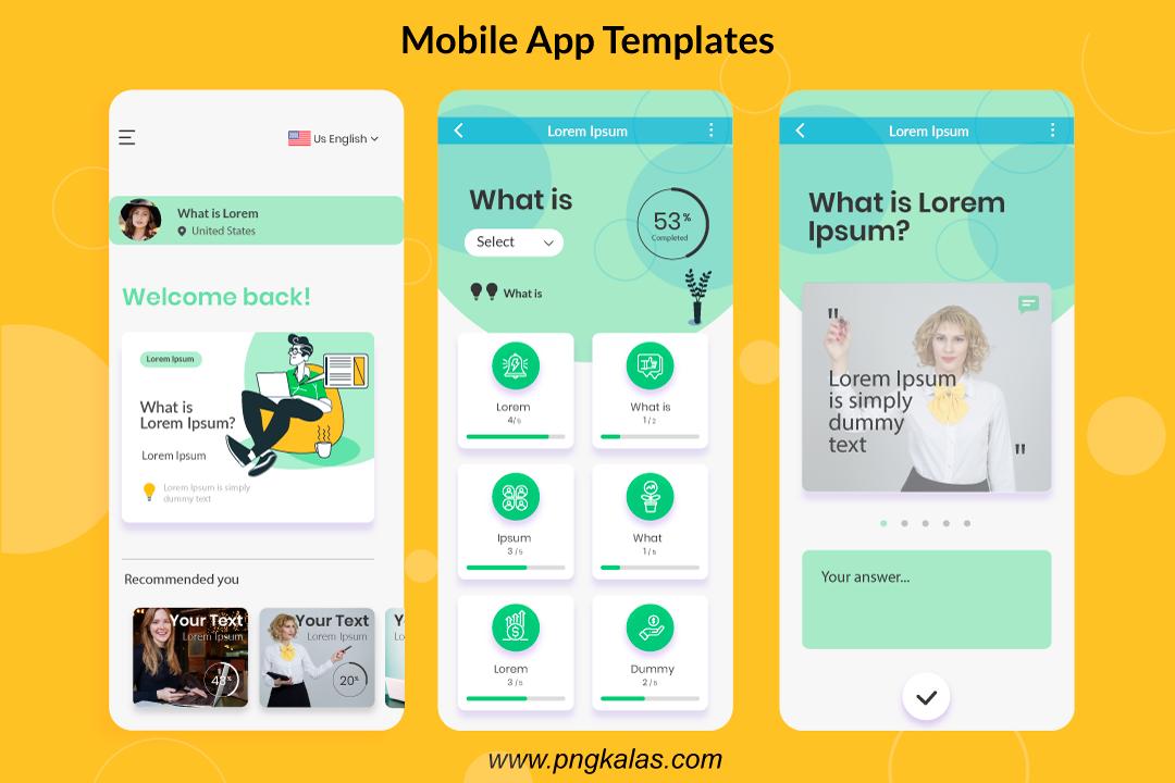App Template Design