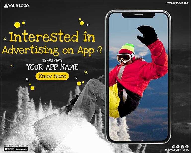 app banner design