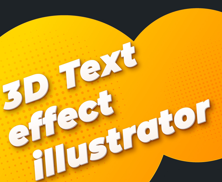 3D Text Effect Illustrator