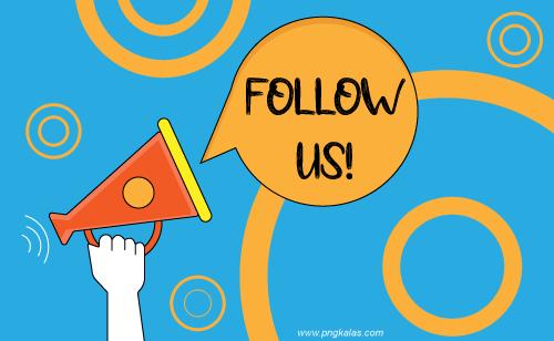 vector follow us banner