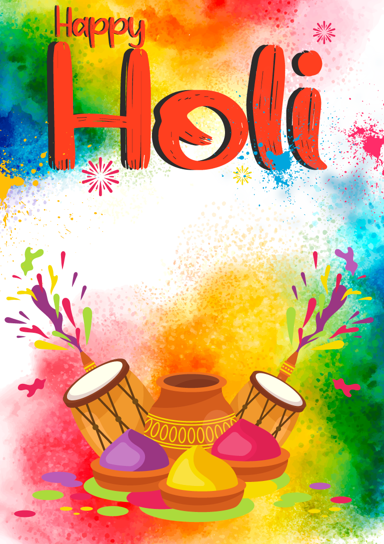 Happy Holi Banner Poster Design