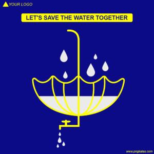 Save Water Concept Poster Design pngkalas