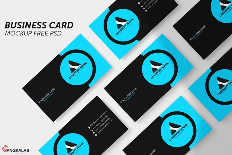 Business Card Mockup Free PSD