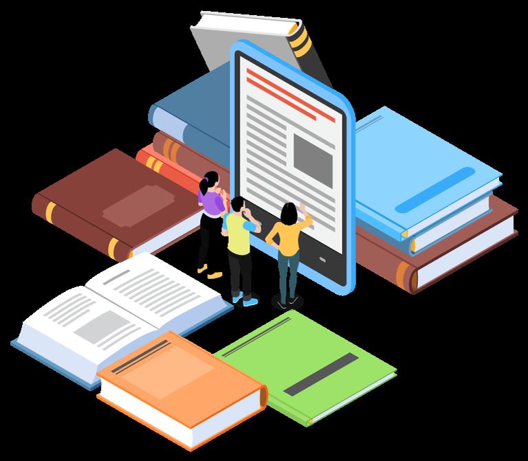 E-Books Vector PNG
