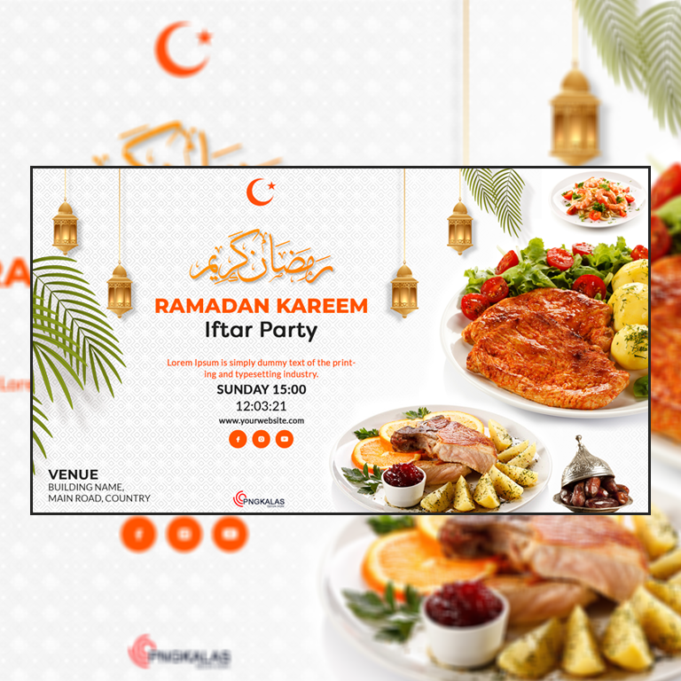 Iftar Party Banner Design