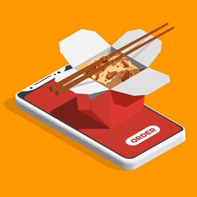 Online Order Concept Free Vector