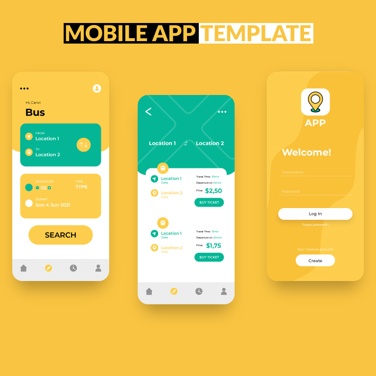 Transport Mobile App Template