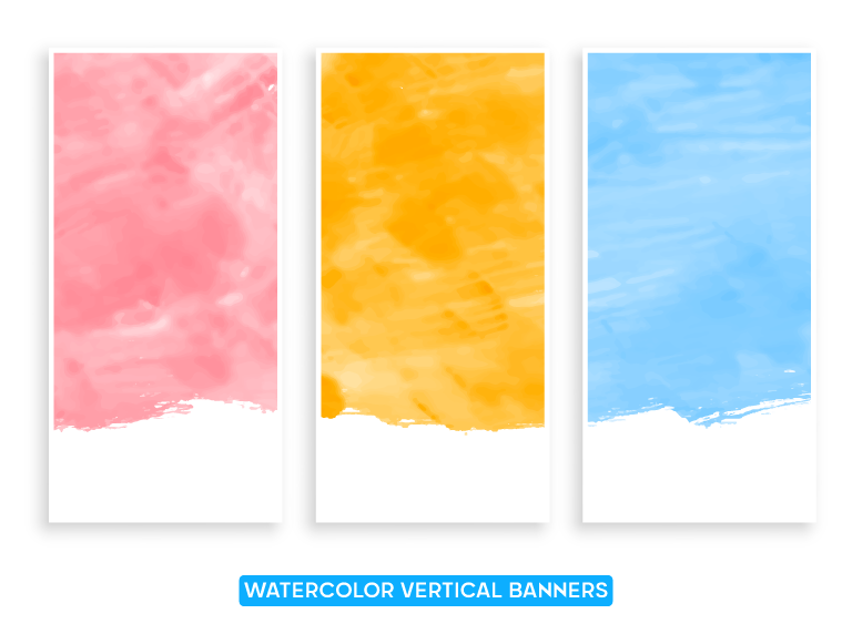 Watercolor Vertical Banners