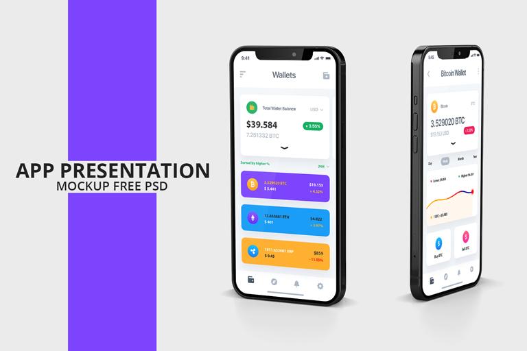App Presentation Mockup Free PSD