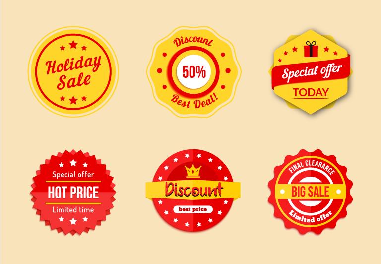 Discount Labels Vector Free Download