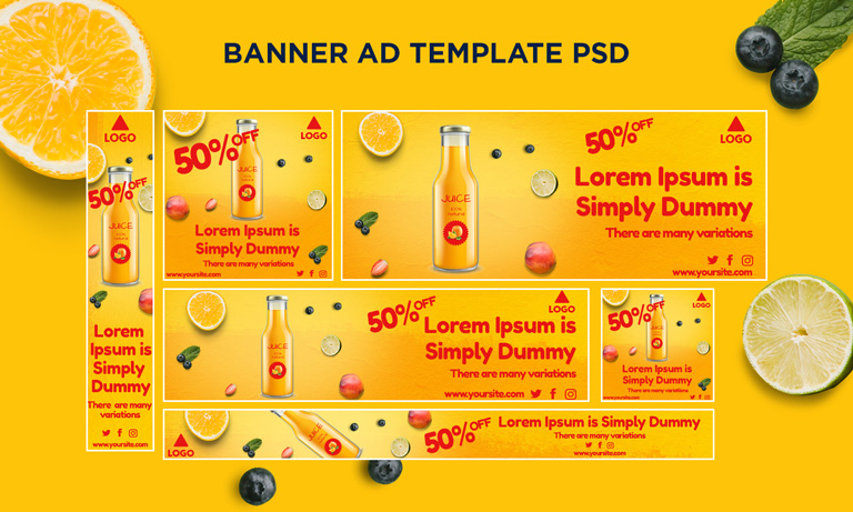 Free Ads Template PSD