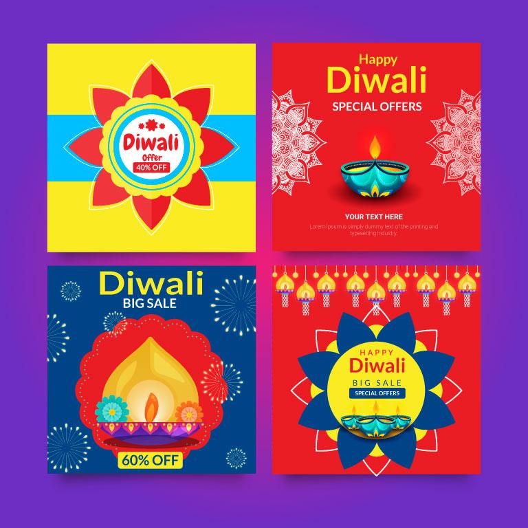 Happy Diwali Banner Design 2021