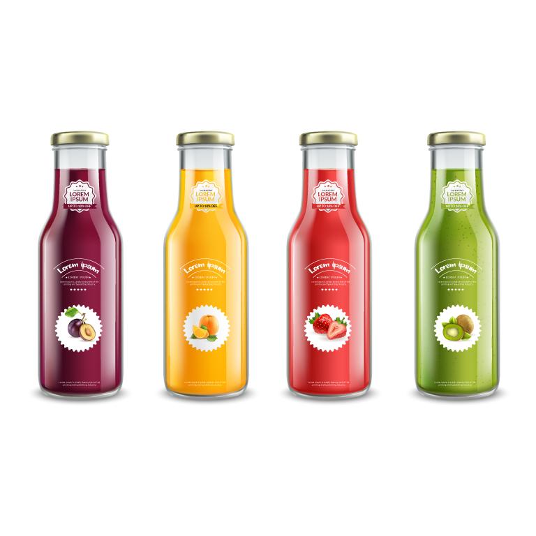 Juice Glass Bottles
