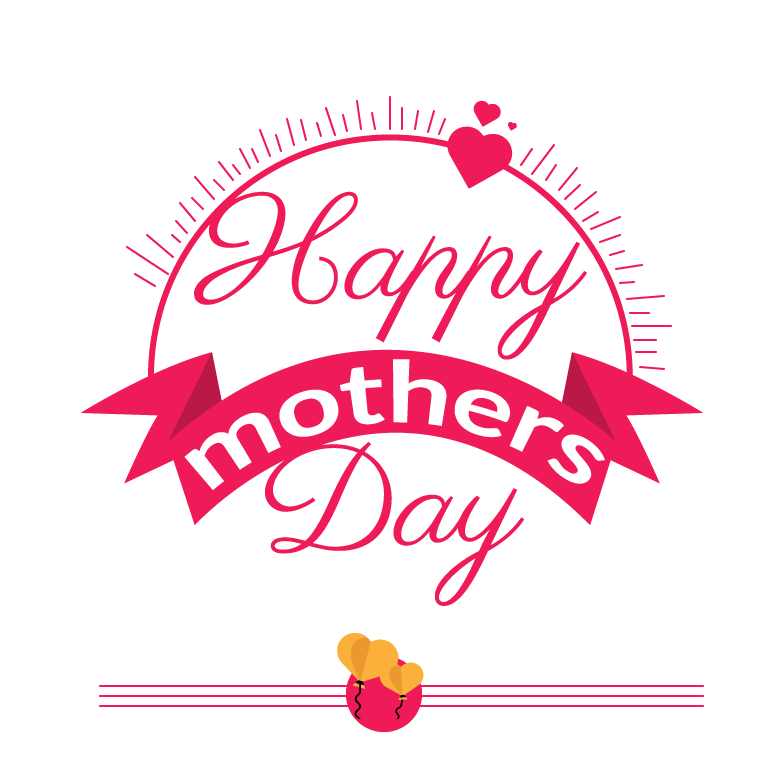 Mothers Day Badge Vector Design