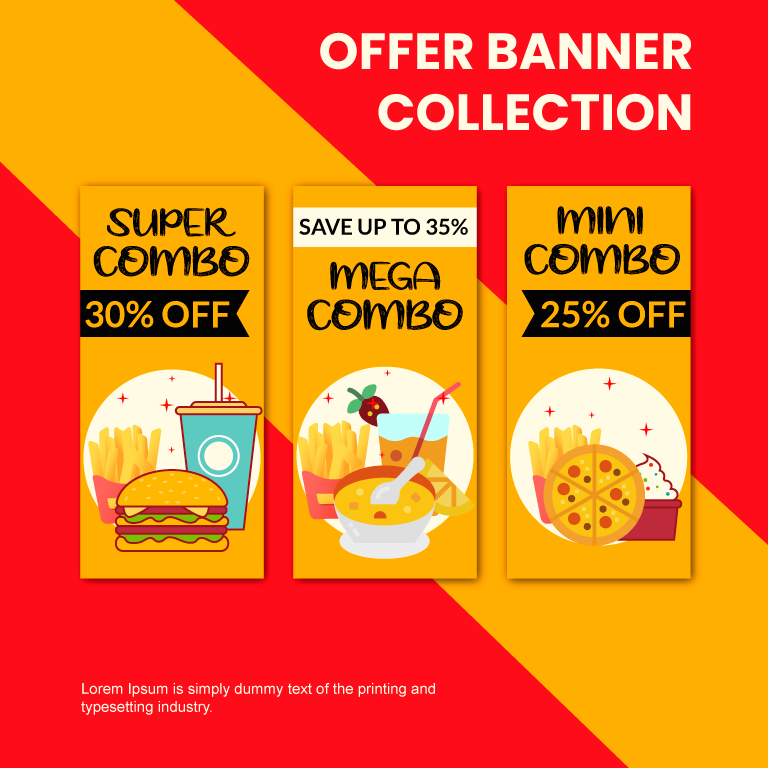 Food Offer Banner Collection