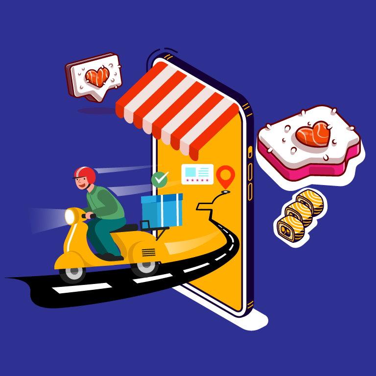 Online Delivery Free Vector Template