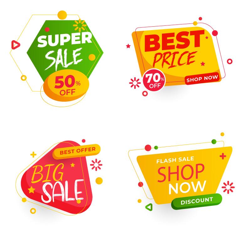 Sale Promo Badges Free Vector