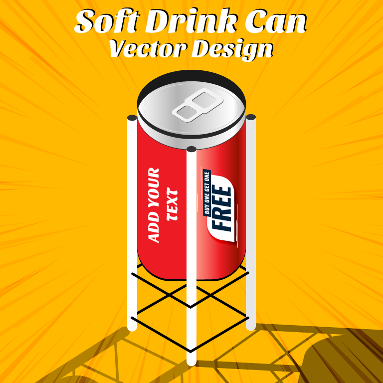 Soft Drink Can Vector Design