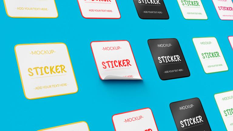Sticker Mockup Template
