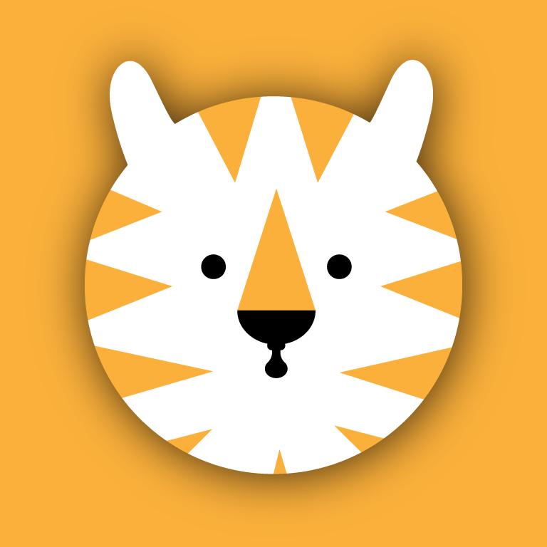 Tiger Sticker Template Free Vector