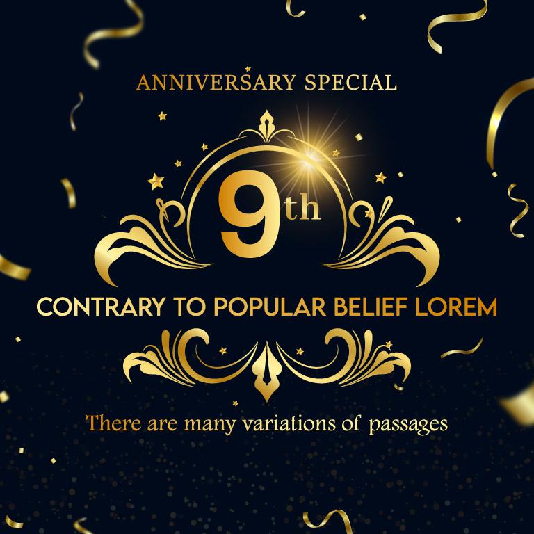 Anniversary Celebration Free Vector Template
