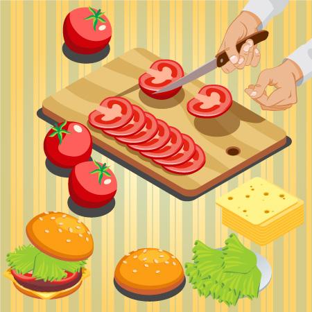 Fast Food Vector Snack Banner Design