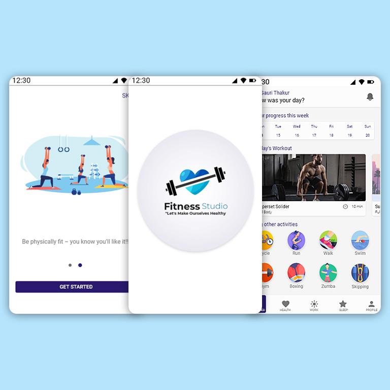 Fitness App Design Template Design