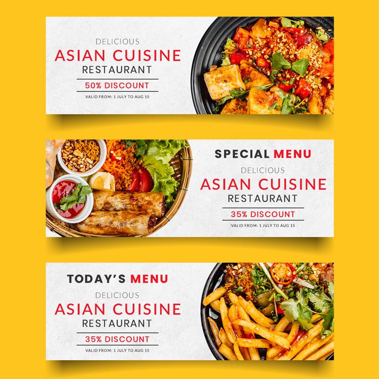 Food Banner Design for Social Networks