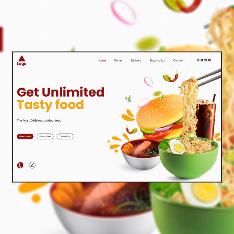 Food Website Templates Design