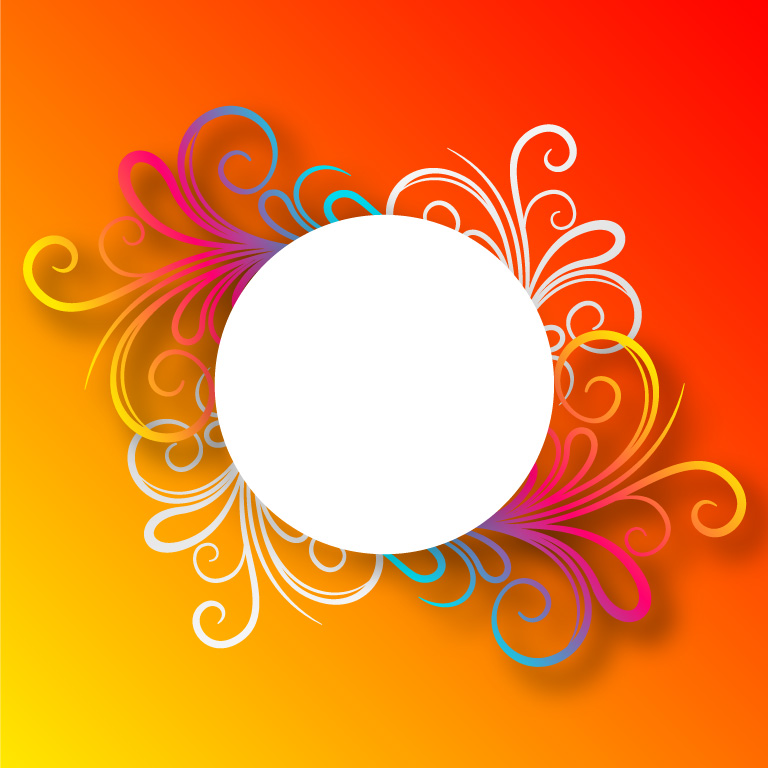 Free Festival Floral Card Vector