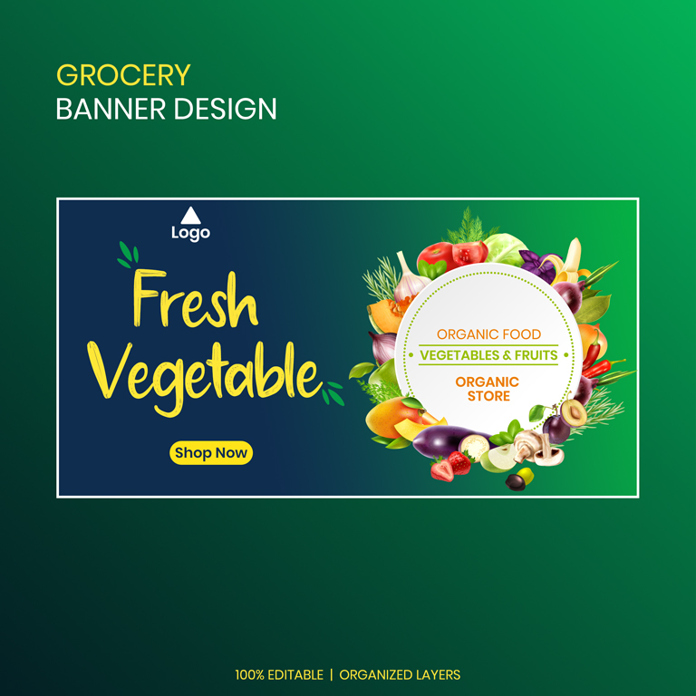 Grocery Banner Design Templates