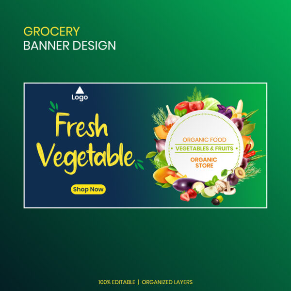Grocery Banner Design Template