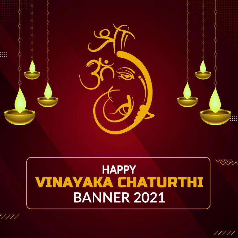 Happy Vinayaka Chaturthi Banner 2021
