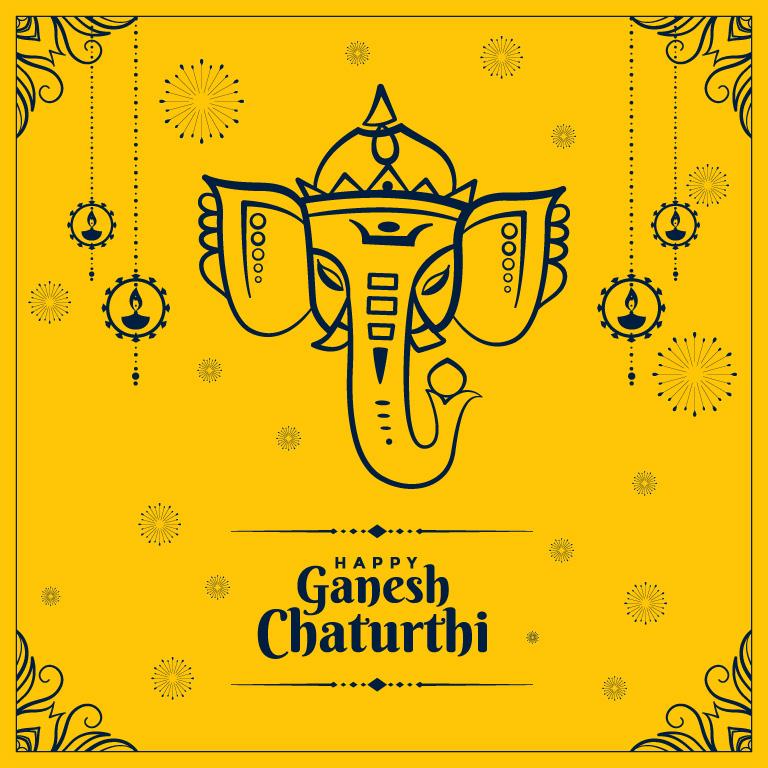 Happy Vinayaka Chaturthi Banner Design
